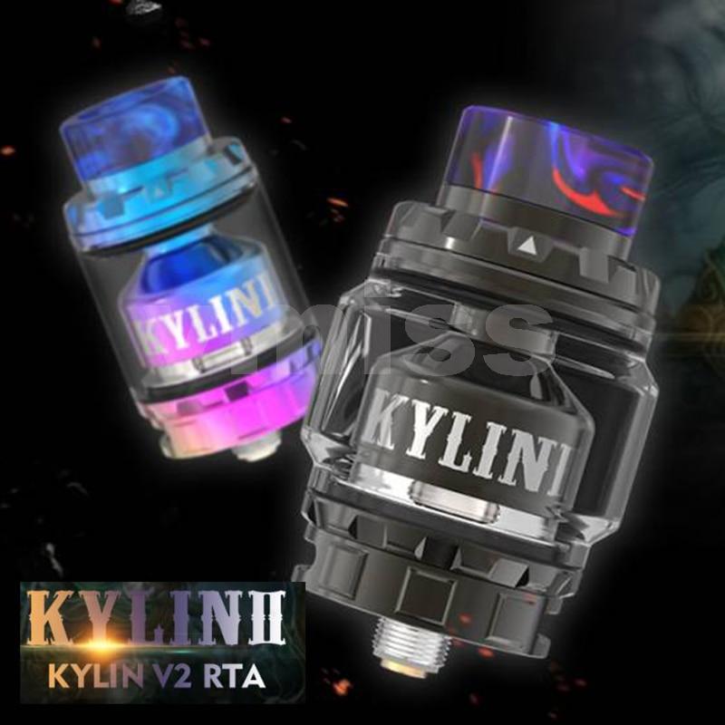 Vmiss Kylin V2 II RTA Tank 3ml To 5ml Adjustable Glass Tube With 810 Resin Mouthpiece Vape Mod Atomizer недорого