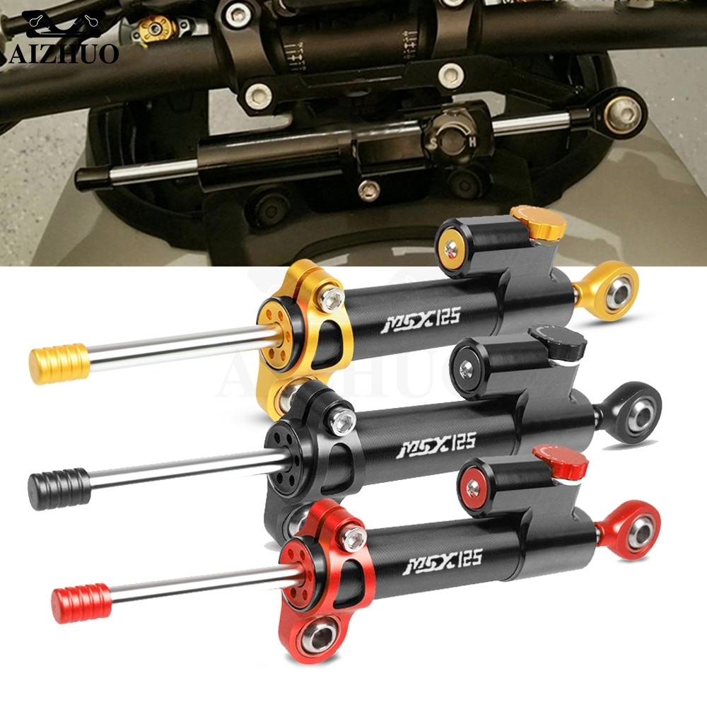 Control de Seguridad estabilizador de dirección de motocicleta de aluminio para HONDA MSX 125 GROM/MSX125 2014-2018 2015 2016 2017