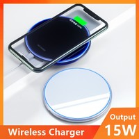 15 вт универсальное беспроводное зарядное устройство Qi для IPhone Беспроводная зарядная площадка для Samsung Xiaomi Huawei быстрая Беспроводная зарядна...