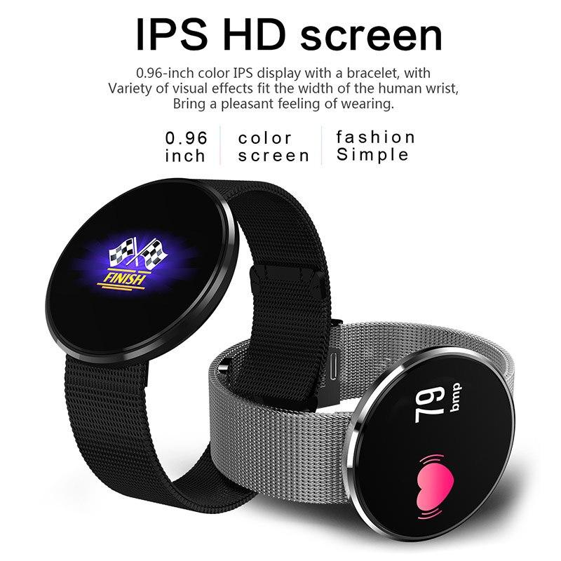 Pulsera inteligente Monitor LCD Color IP67 ritmo cardíaco presión arterial contador paso impermeable deportes podómetro pulsera de calorías JHP