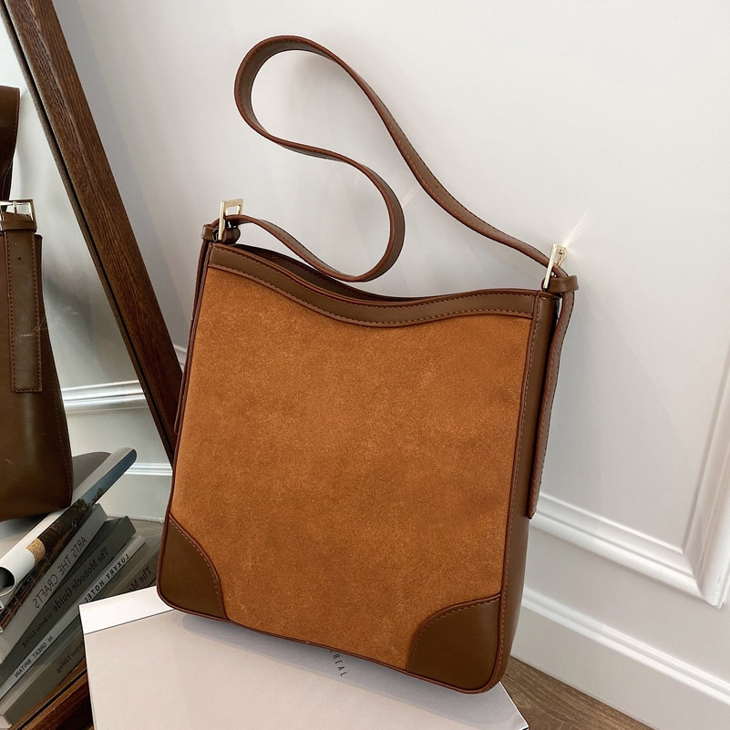 Vintage Scrub Leather women Shoulder Bag 2020 Winter new female handbag High capacity Brand design ladies hand bag bolsas brown