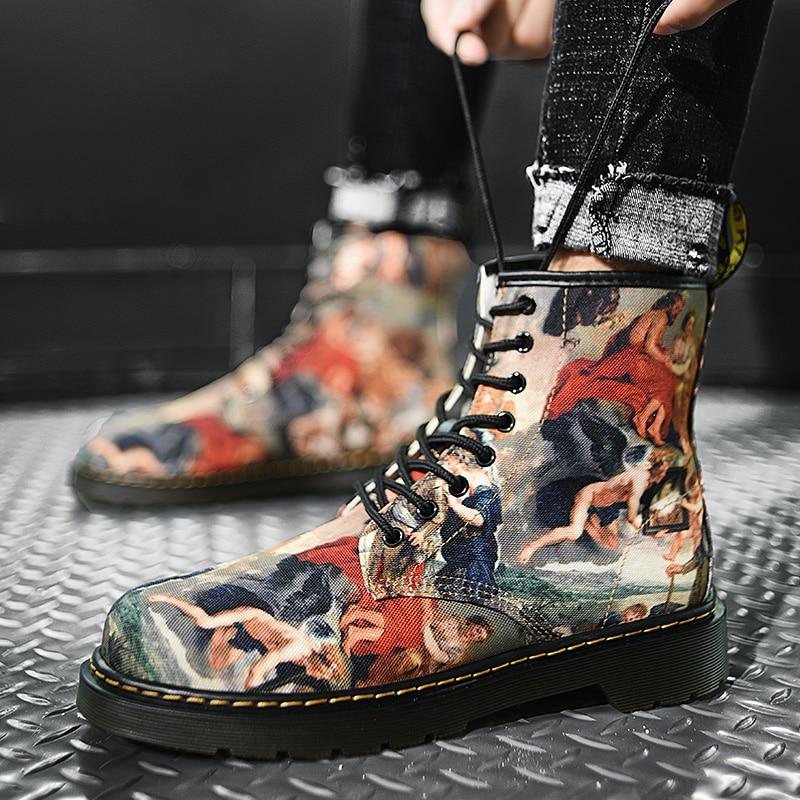 2021 Fall Winter New Ladies Shoes Men Women Boots Military Couple Womens Roman Riding Cowboy Half Pl