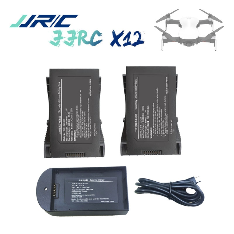 Original X12 EX4 11.4V 2400mAh LiPo Battery for JJRC X12 5G WiFi FPV RC GPS Drone Spare parts Accessories