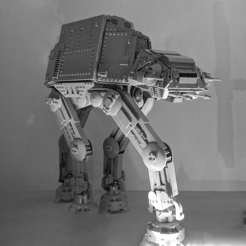 MOC التكنولوجيا الفائقة الحروب 05130 ATAT spelzeug كرافت Weckt Atat ووكر مجموعة باوستين الطوب كومباتيبل Mit