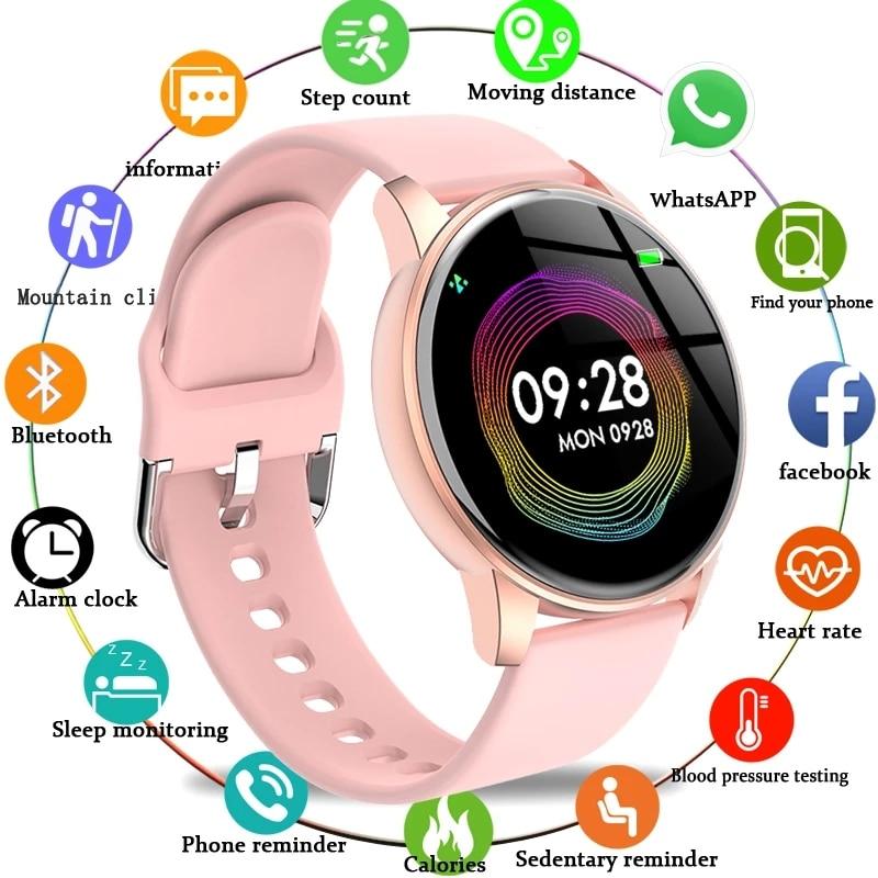 2021 New Smart Watch Men Women Sports Multifunction Heart Rate Blood Pressure Monitor Smart Watches