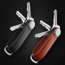 Voiture clé pochette sac étui porte-cartes chaîne porte-clé anneau collecteur femme de ménage EDC poche clé organisateur Smart cuir porte-clés