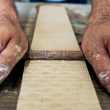 Bâton de timbre gaufrage Texture bois   Motif de poisson, outils de poterie, outils en céramique polymère pâte à modeler, céramica maquetas