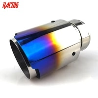 car stainless steel hight quality burnt blue muffler tip exhaust system universal straight silver decoration exhaust pipe muffle