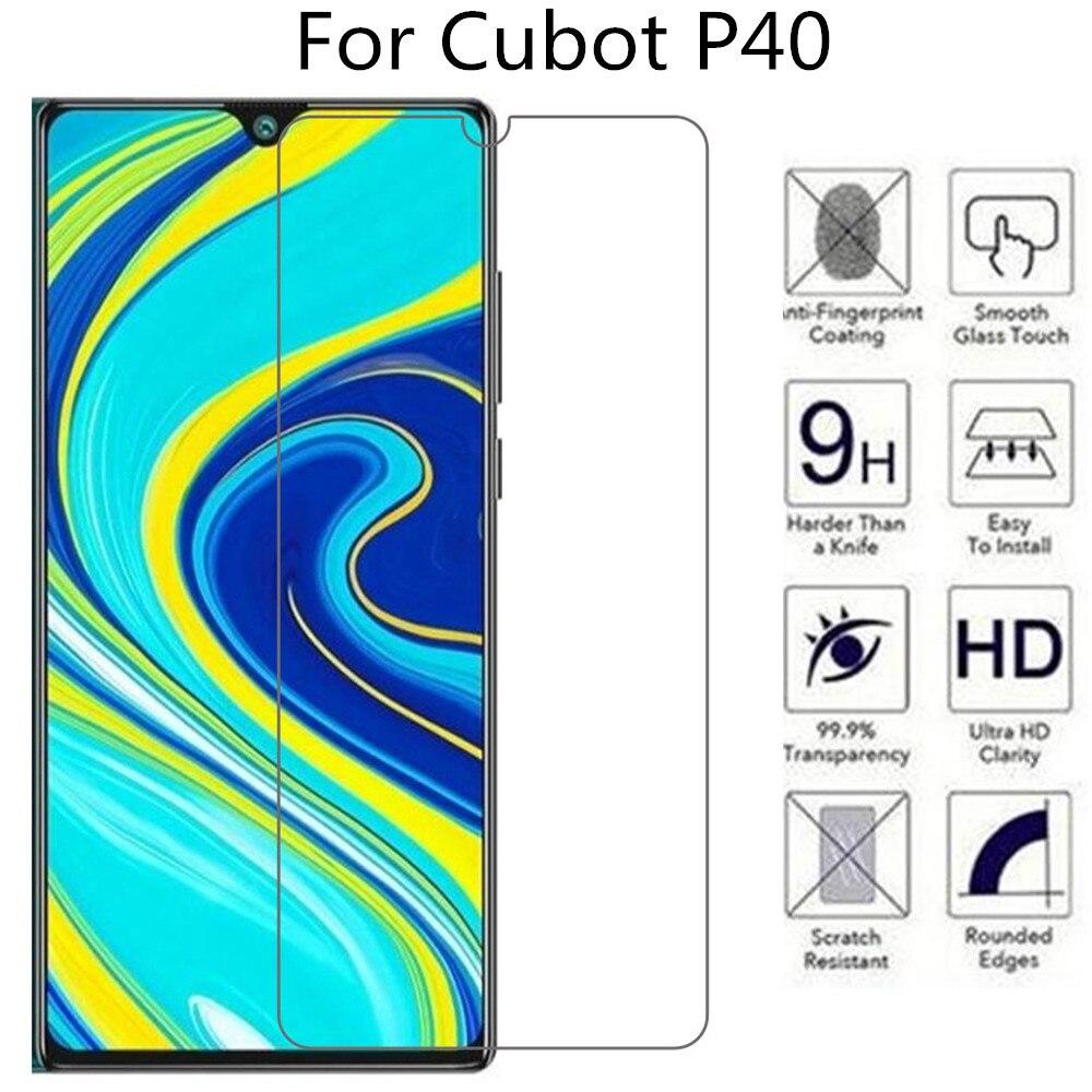 Vidrio Templado 2.5D 9H para Cubot P40 película protectora endurecida para teléfono Cubot P40
