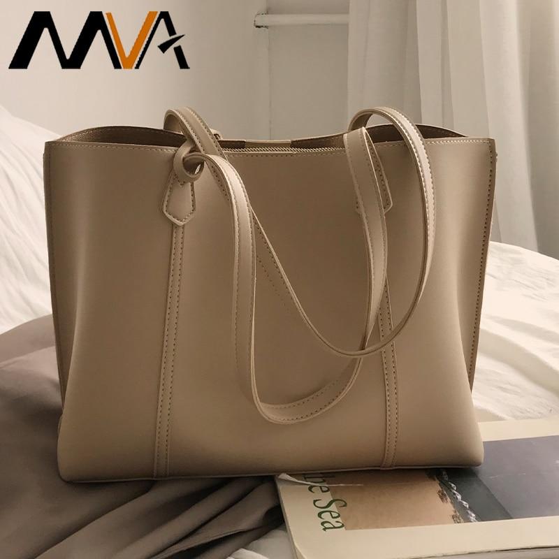 MVA نباتي حقيبة الجراب الجلدية حقيبة كتف المرأة عادية الكتف حقائب نسائية كبيرة موضة مكتب الإناث حقائب اليد للعمل حقيبة نسائية صغيرة