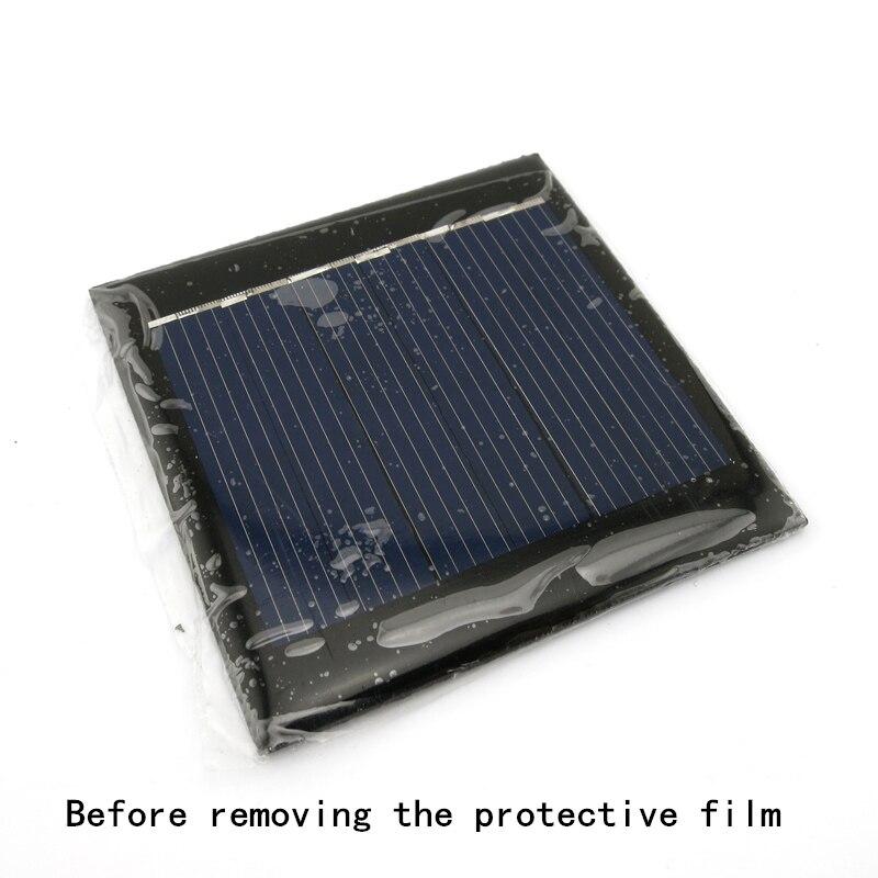 Paneles solares de 2 uds, Mini placa Solar de 5,5x5,5 cm, CC 3V, 100ma, para ensamblaje de modelos DIY, módulo de batería de carga de energía, Mini célula