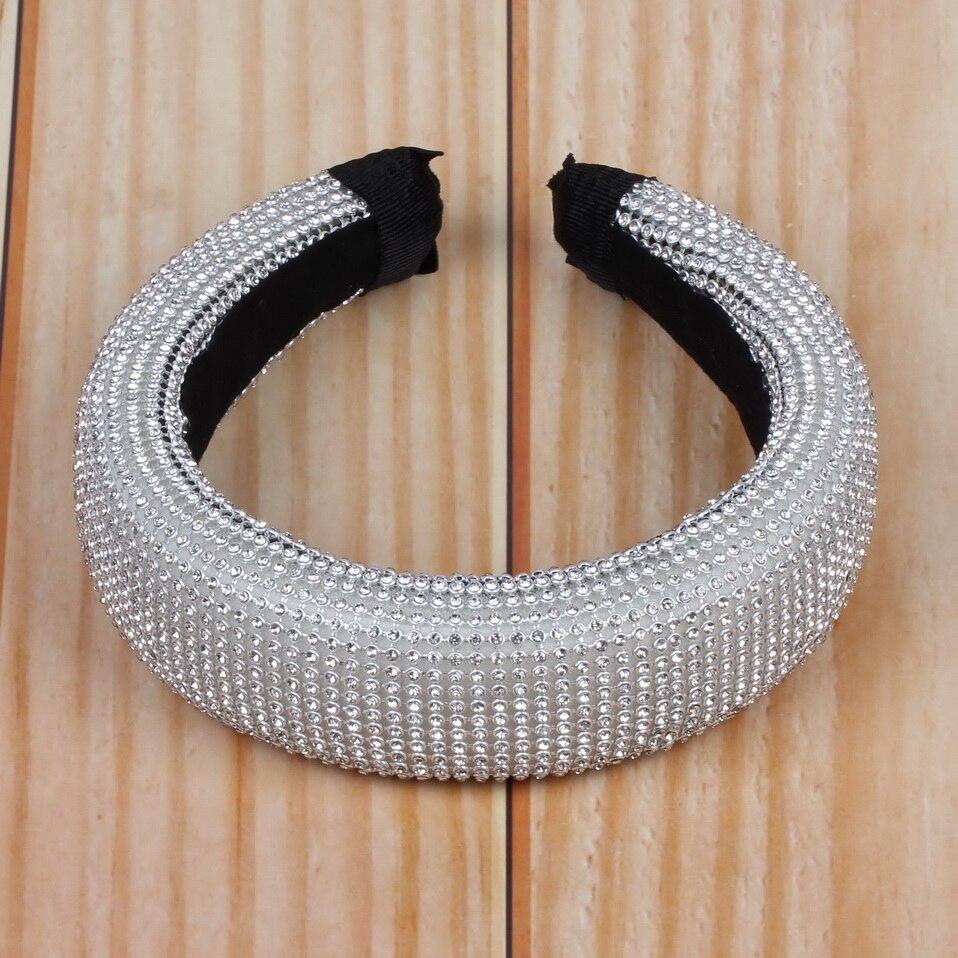 Diadema Florosy de gran tamaño con diamantes de imitación para la cabeza, accesorios para la cabeza 2020