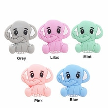Chenkai 10PCS BPA Free Elephant Baby Teething Beads Cute Silicone  Beads For Food Grade Infant Nursi