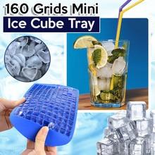 Mini Ice Cub Mold Square Shape Silicone 160 Grids Ice Cub Maker Tray Bar Tools