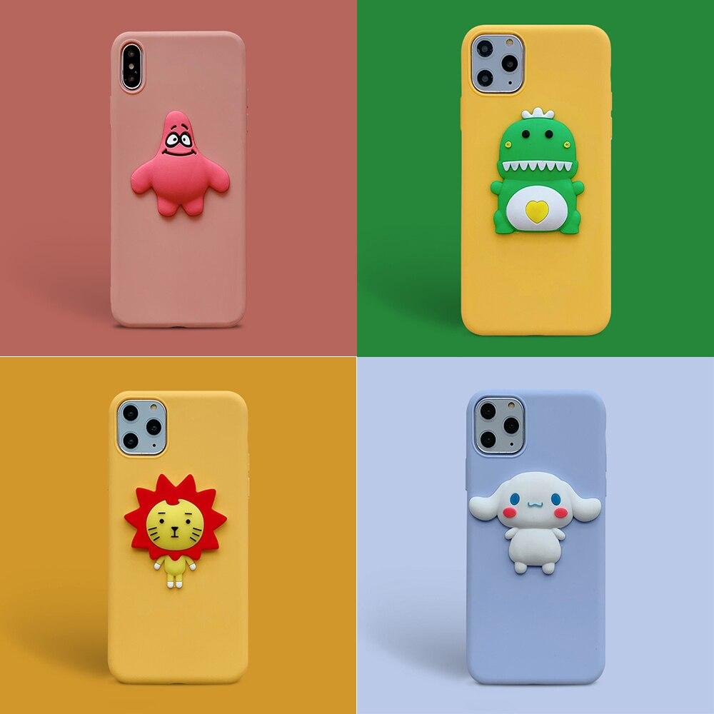 For Huawei P40 Lite E Case 3D Animal Cartoon Soft Plain TPU Cover for Huawei P30 P20 P40 p 40 20 30 lite Pro Phone Back Fundas