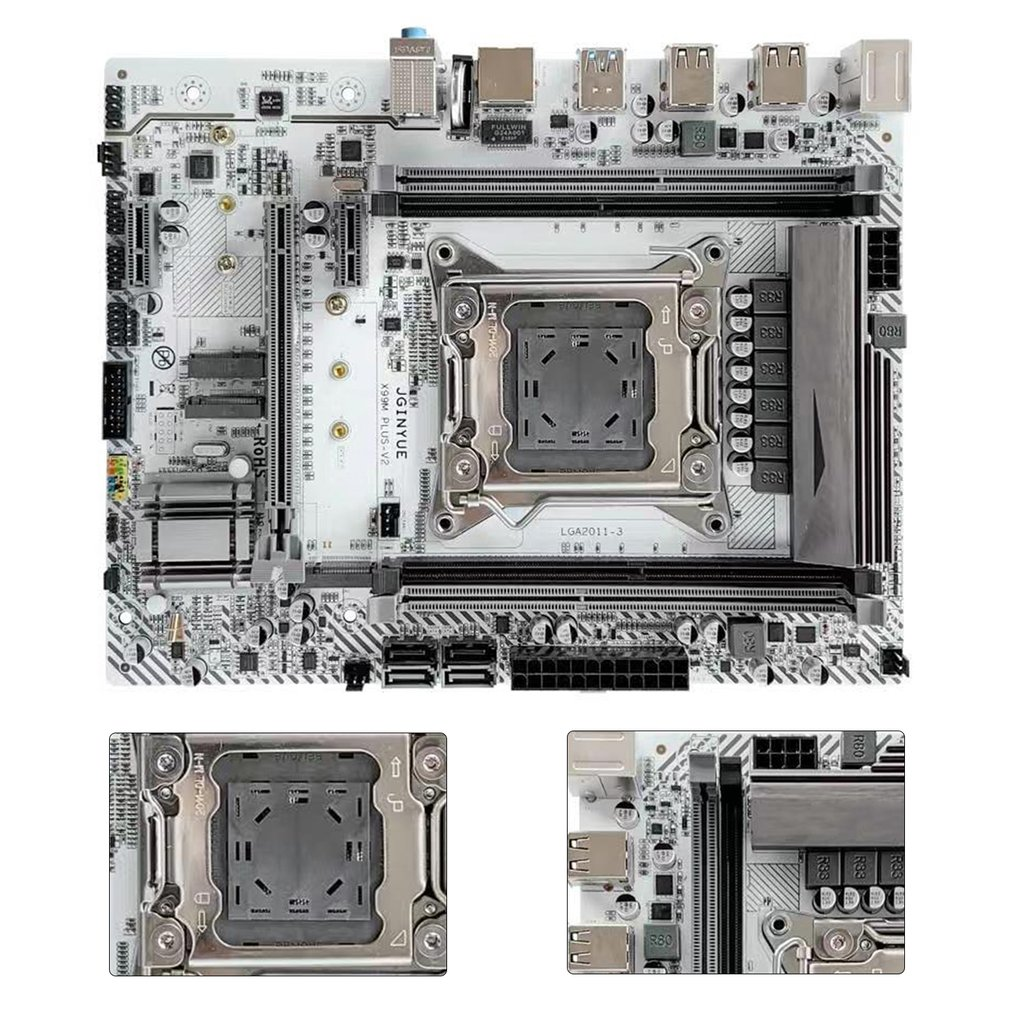 X99 Motherboard LGA2011-3 V3 V4 with Dual M.2 NVME Slot Support Four Channels DDR4 ECC/NON-ECC RAM E5 2678 V3 E5 2620 2650