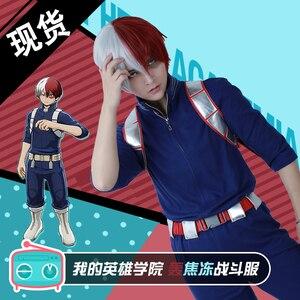 Todoroki Shouto Cosplay Costume Fighting Uniform Anime My Hero Academia Cosplay Prop