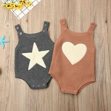 Baby Knitted Romper Summer Sleeveless Infant Cotton Unisex Newborn Rompers One-pieces Girls Boy Jump