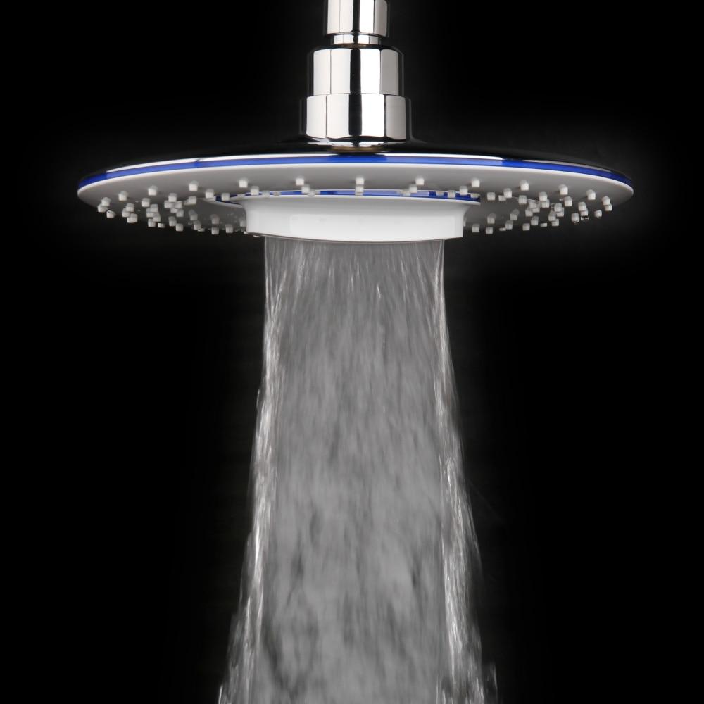 Бесплатная доставка, 8-дюймовая водопад, 2 функции, круглая пластиковая поворотная головка для душа высокого давления, водопад, НЛО