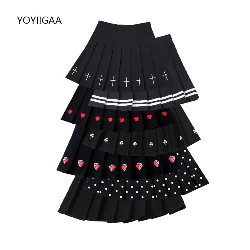 Summer High Waist Women Pleated Skirt Streetwear Preppy Style Female Mini Skirts Fashion Sweet Ladies Girls Dance Short Skirts women skirt fashion high waist pleated skirt sweet cute girls dance mini skirt cosplay preppy uniform school short skirts