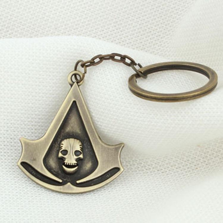 2019 Nieuwe Punisher-Wizard-Assassins-Creed Sleutelhanger Creed Badge Tijd Gem Legering Sleutelhanger Game Movie Perifere souvenir Sleutelhanger