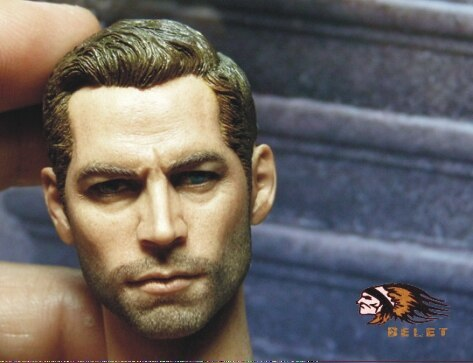 """1/6 Scale Collectible Figures Accessories Driver Paul Walker Head Sculpt For 12"""" Male Action Figure Doll,Body Not Included B0199"""