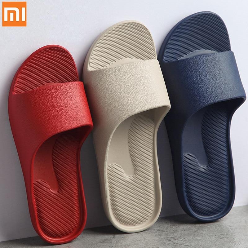 Homem e Mulher Resistente ao Desgaste Xiaomi Mijia Moda Sandálias Antiderrapante Eva Fundo Grosso Confortável Casa Chinelos Banho