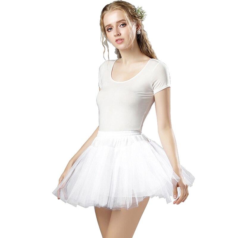 Menina mini tule petticoat 3 camadas branco inchado curto rockabilly underskirt tutu doce senhora baile de formatura saia crinoline