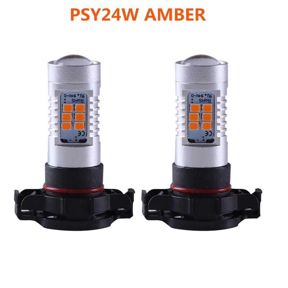 2Pcs NEUE 24W PSY24W HIGH POWER 2835 CHIPS LED BERNSTEIN ANZEIGE LAMPEN Für BMW & ANDERE AUTOS CANBUS FREIES FEHLER