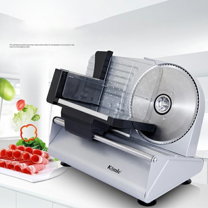 الكهربائية آلة تقطيع اللحوم التلقائي القطاعة قطع ماكينة الخبز انفصال سبائك الفولاذ المقاوم للصدأ سكين قابل للتعديل سمك 200W