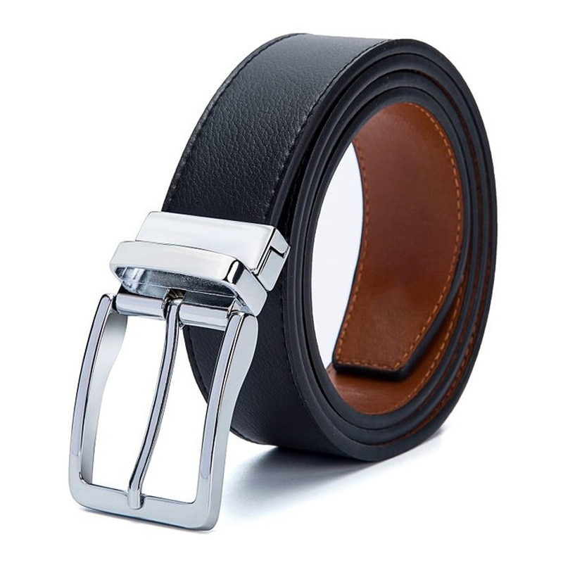 【VERBESTRAL】Free Shipping Business Men's Belt High Quality Designer Luxury Alloy Button Type Nee
