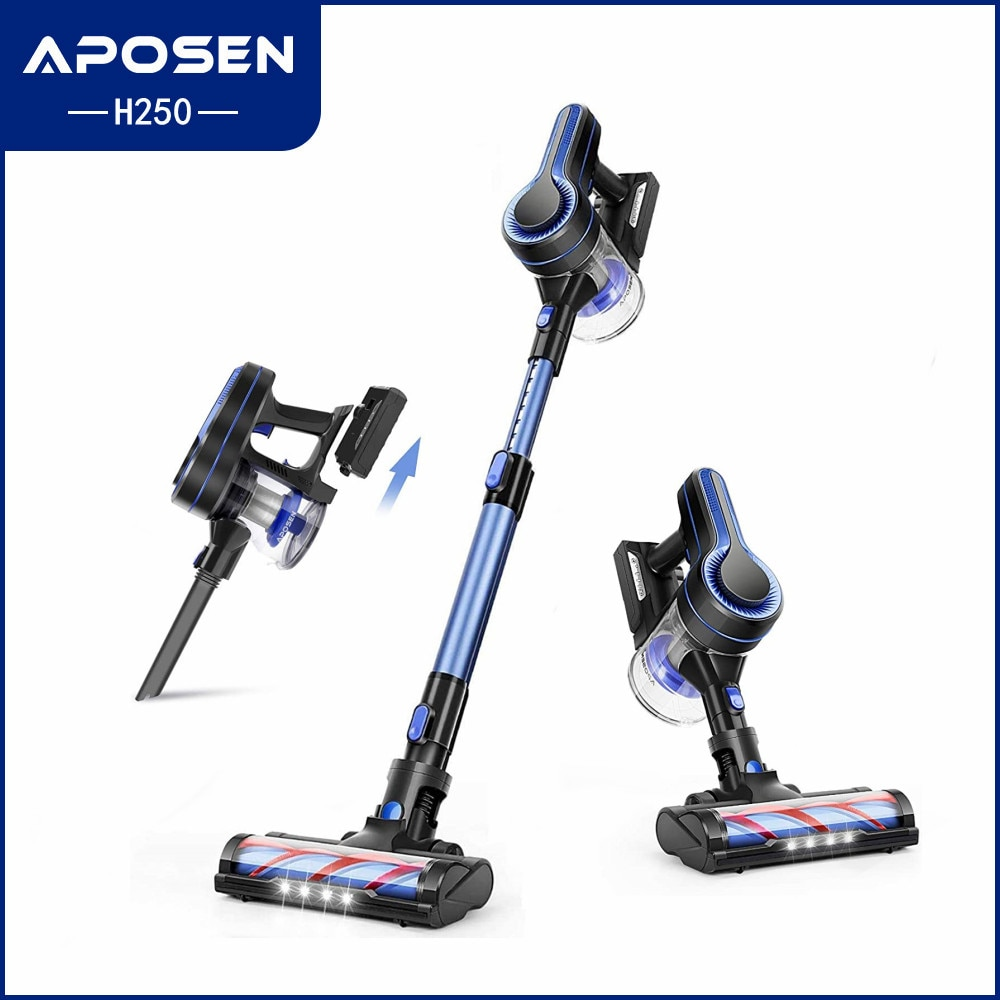 aliexpress.com - APOSEN Cordless Vacuum Cleaner 24KPa Powerful Suction 250W Brushless Motor 4 in 1 Stick Vacuum with LED Turbine Brush for Home