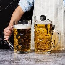1200ML Große Bier Glas Becher Dicken Kristall Gläser Tee Milch Kaffee Tassen und becher Doppel Wand für Club Bar party Home Beste Geschenke