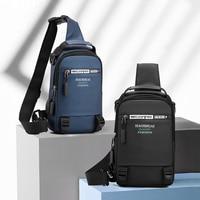 Нейлоновые нагрудные сумки для мужчин, мужские сумки через плечо с USB-зарядкой, военный многослойный Рюкзак-слинг на одно плечо
