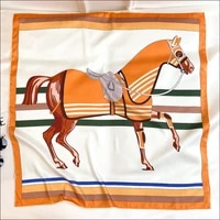 horse print silk scarf hand rolled edges womens satin scarves silk square scarf 90x90 designer silk head scarfs for women 90cm
