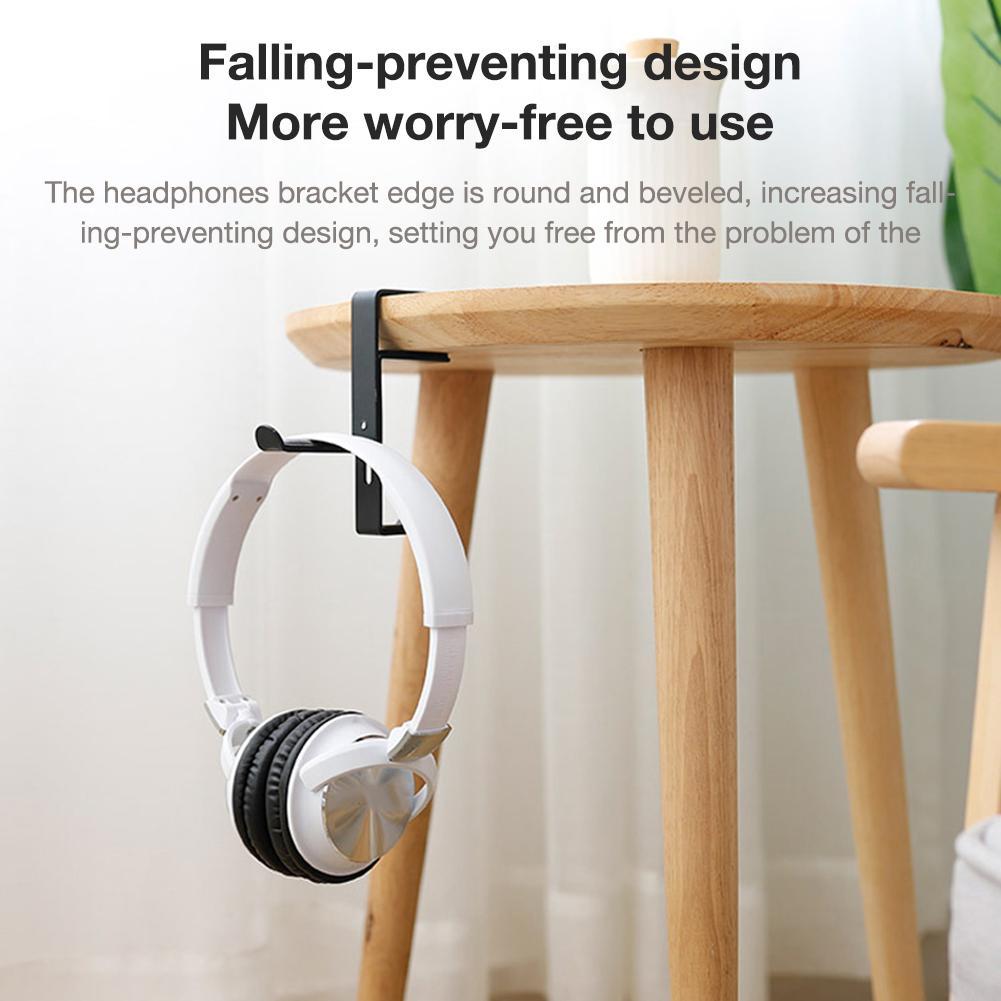 Accesorios para auriculares, soporte de montaje para desmontaje de auriculares, ganchos de colgar y soporte de Metal para auriculares, auricular, pinza de sujeción para mesa