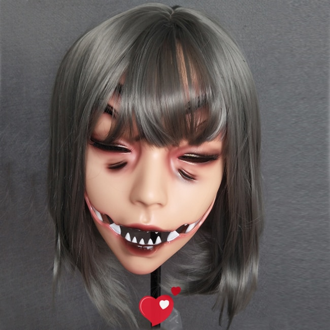(LI-02) الإناث الراتنج نصف رئيس Kigurumi كروسدريس تأثيري اليابانية أنيمي دور الوحش قناع دون عيون