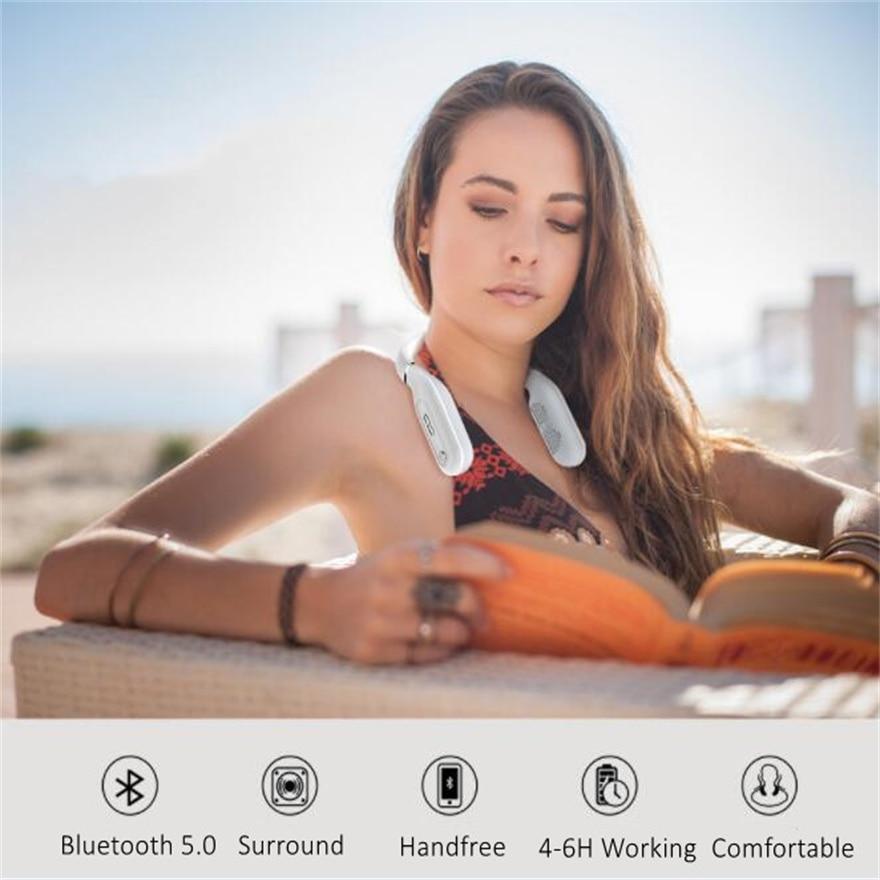 Wearable Speaker Neck Mounted Soundbar Neckband Mp3 Portable  Speakers Type C Music Box Surround Sound Bluetooth Loudspeaker enlarge