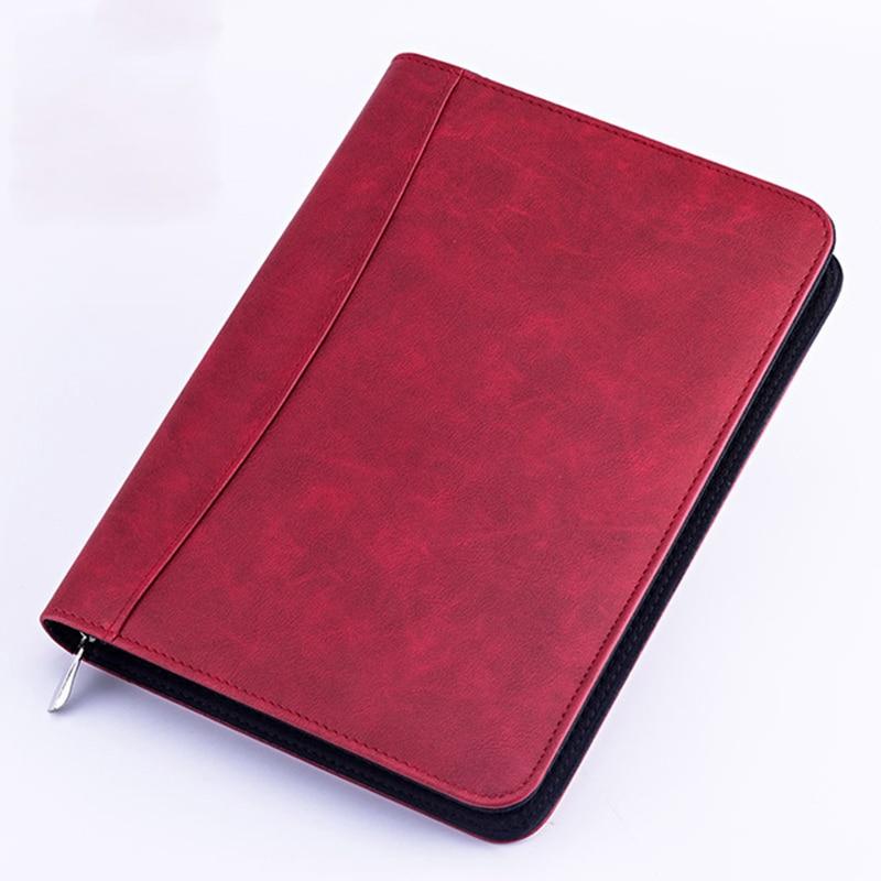 A5 caderno com calculadora espiral diário diário negócios padfolio fichario nota livro gabinete manual de viagem bloco de notas