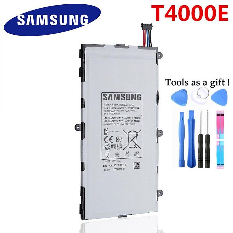 Orijinal Yedek Samsung Pil Galaxy Tab3 7.0 T217a T210 T211 T2105 Hakiki tablet bataryası T4000E 4000mAh