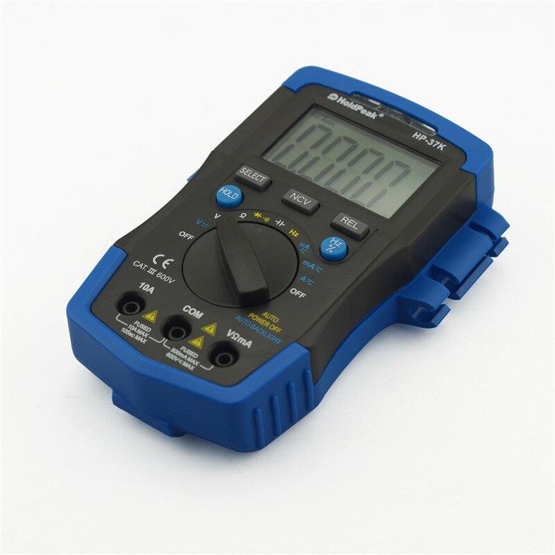 Huayu hp-37k nuevo retroiluminación inteligente rango automático multímetro digital multímetro electrónico