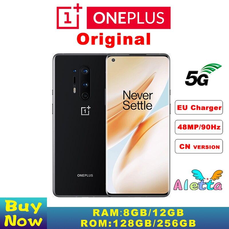 Original OnePlus 8 Pro 6,78 Zoll 120Hz Snapdragon 865 Octa-Core 8G/12G 256GB android 4510mAh 30W Ladegerät NFC 48MP Smart 5G Telefon