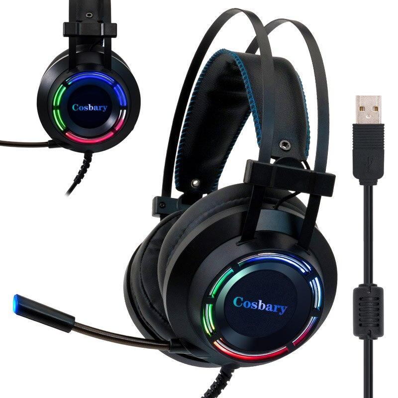 حار 7.1 سماعة الألعاب مع عميق باس لعبة سماعة رأس بمايكروفون للكمبيوتر الكمبيوتر المحمول ألعاب USB موصل الصوت المحيطي