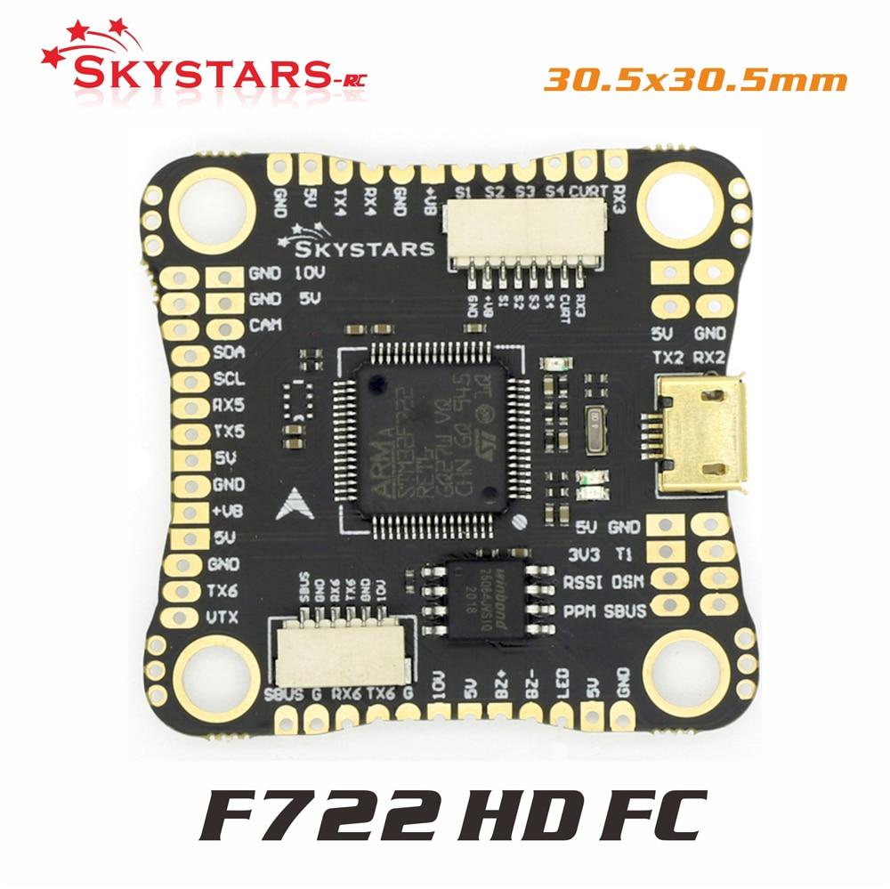 Контроллер полета skystarsF722HD F7 совместимый с DJI OSD 3 ~ 6S MPU6000 30,5x30,5 мм для радиоуправляемого дрона FPV гоночного с DJI