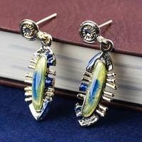 hot sale classic women dangle earrings for women vintage gold color earrings female elegant wedding band gift fashion jewelry