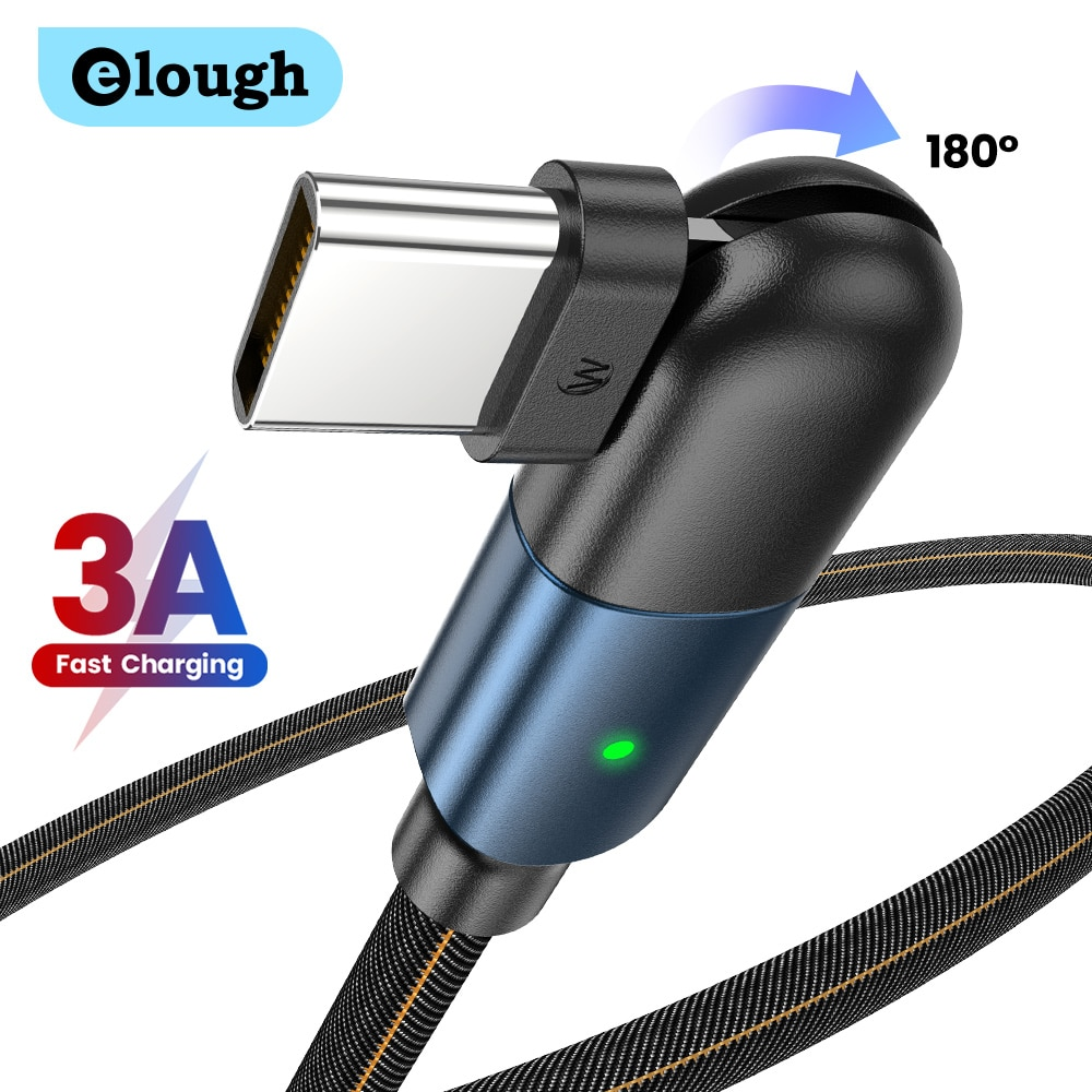 Elough Cable USB Type C 3A USB C Magnetic Cable Micro USB Cord Charger for iPhone 11 12pro Max Xiaom