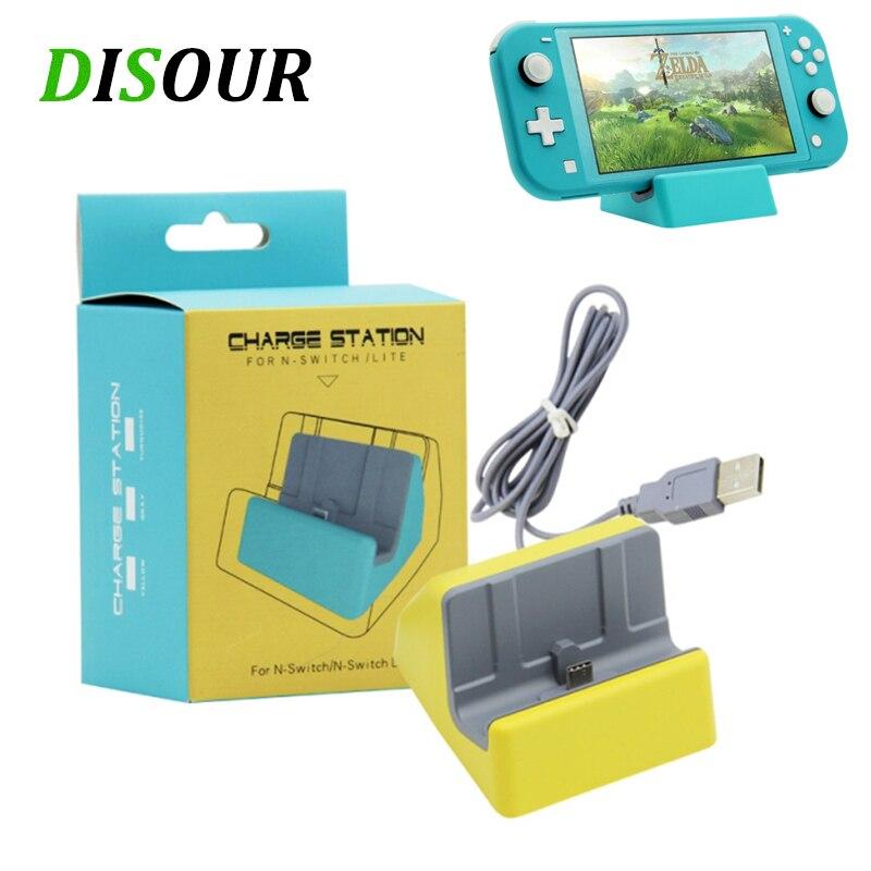 DISOUR universel USB type-c support de charge pour Nintendo Switch Lite Dock Console socle de charge accessoires Mini support chargeur