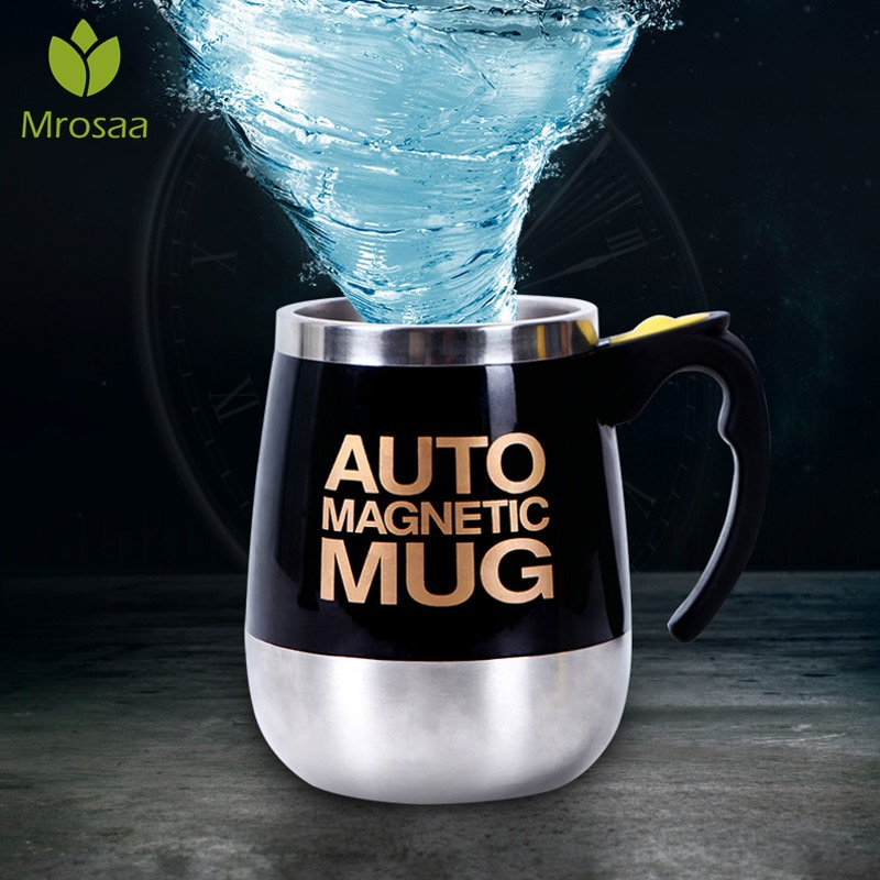 400/450ml ספלי אוטומטי חשמלי עצלן מגנטי עצמי ערבוב ספל קפה חלב ערבוב ספל חכם נירוסטה Jui ce לערבב כוס