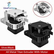 Extrusora de acero Titan Aero, completamente de Metal actualizado, 1,75mm, plateada/negra para impresora 3D Prusa i3 MK2, soporte de montaje Bowden con accionamiento directo
