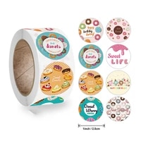 dm happy birthday round sticker paper adhesive tape label for homemade bakery gift seal packaging scrapbooking kids party